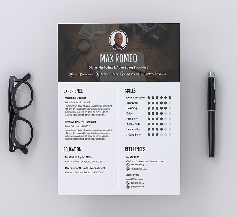 Contemporary Professional Resume Template copy