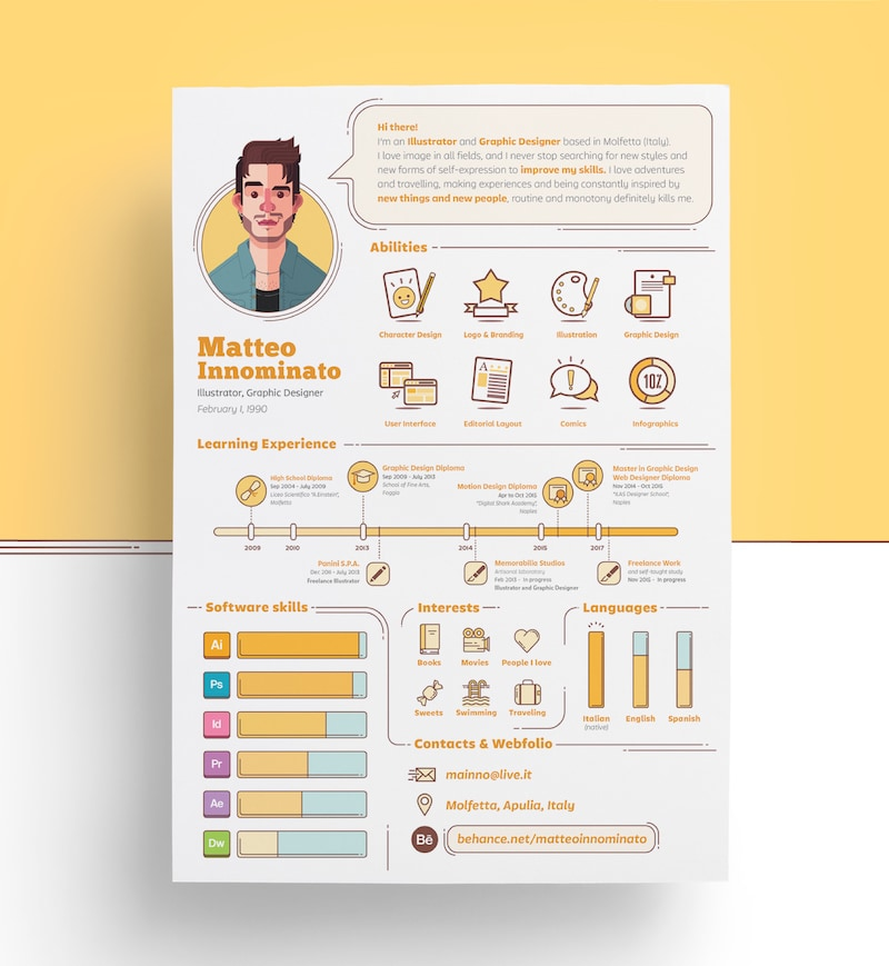 Creative Designer Resume Design Template Copy