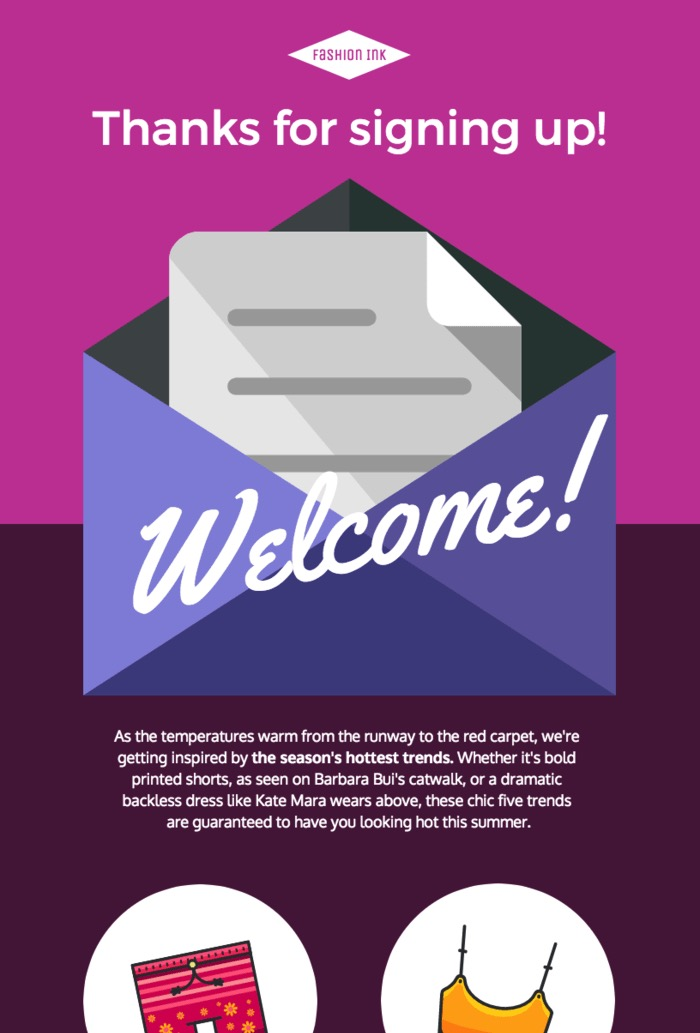 Creative Welcome Email Newsletter Template
