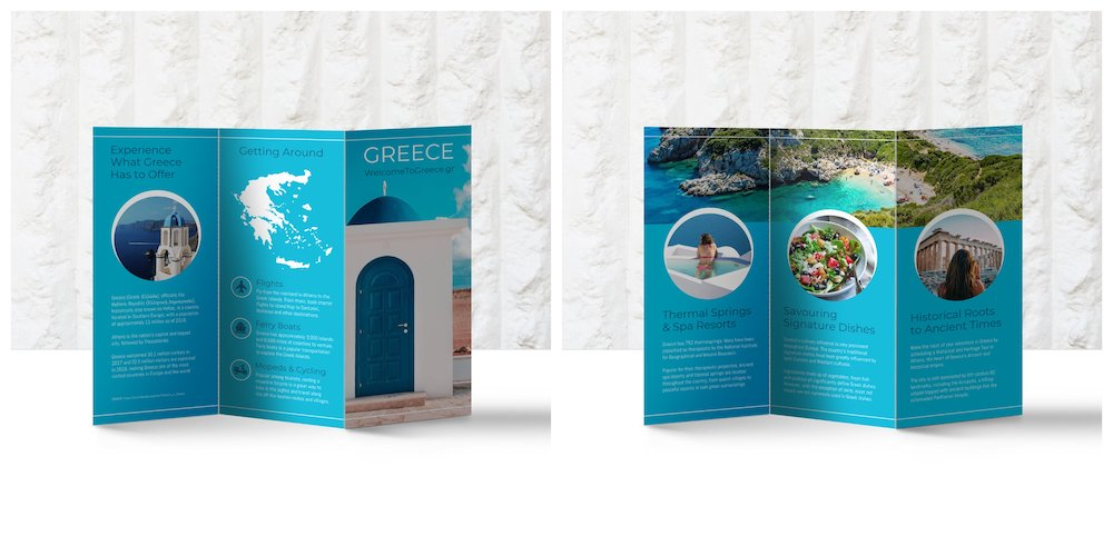 Creative World Travel Tri Fold Brochure Template