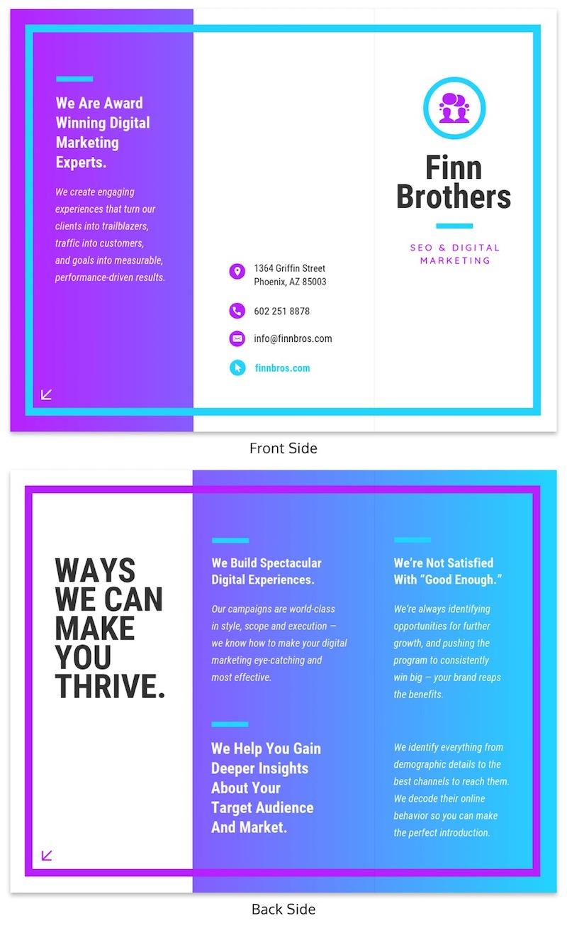 Futuristic Trifold Brochure Template