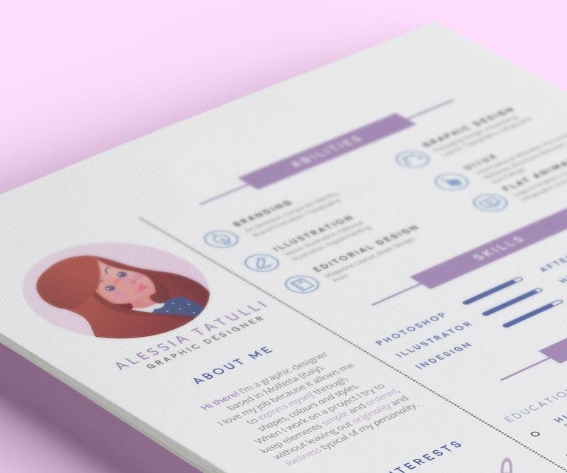 Minimalist Creative Personal Resume Design Template