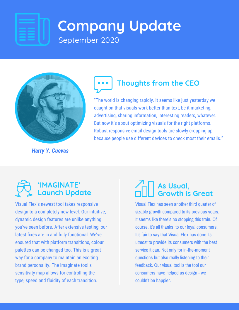 Modern Business Update Newsletter Template