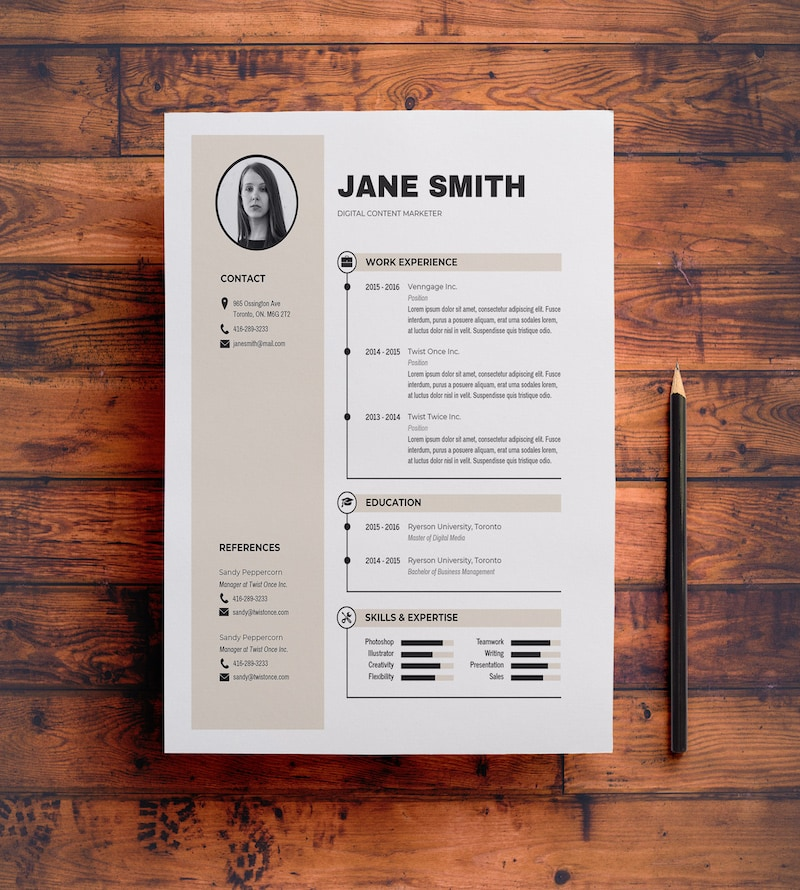 Modern Colorful Business Resume Template Design