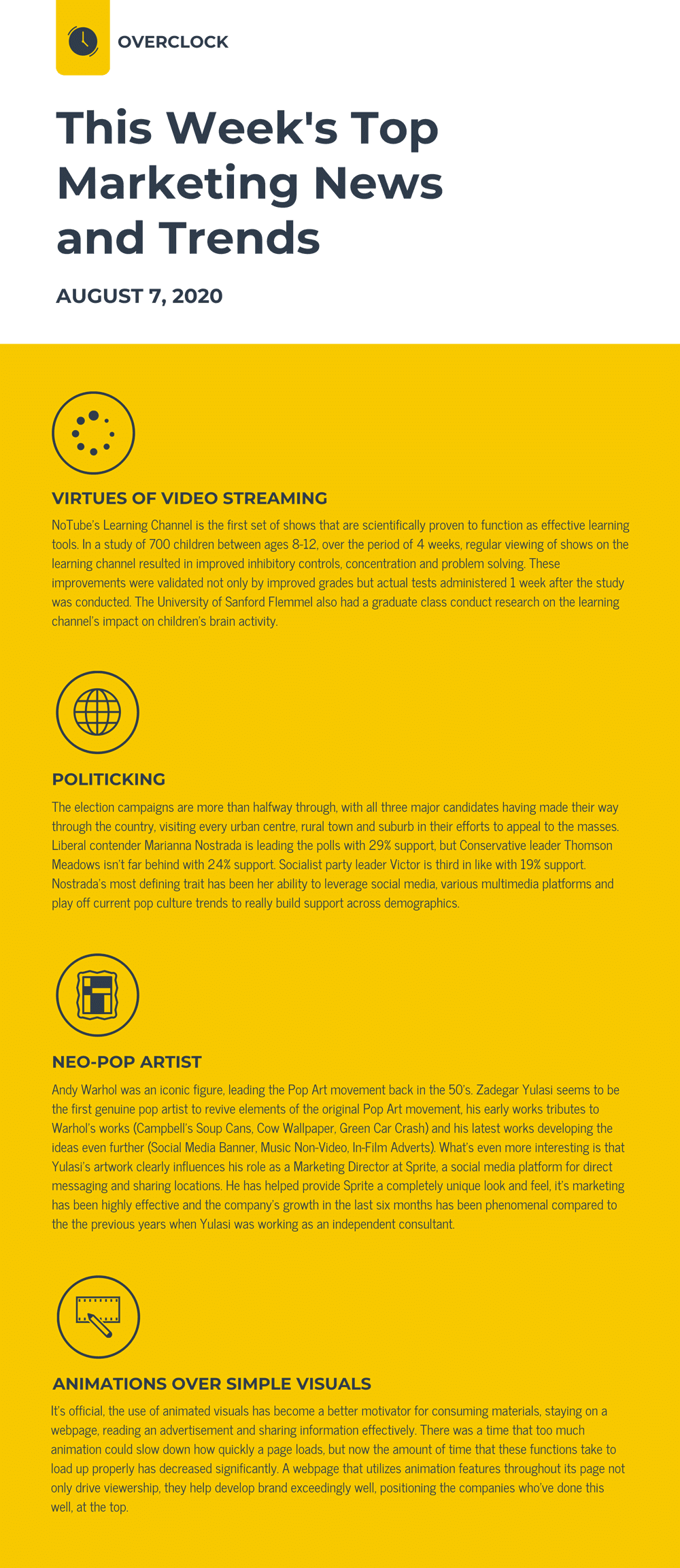 Music School Email Newsletter Template