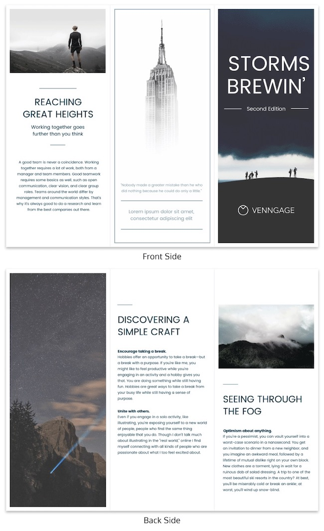 Professional Business Marketing Tri Fold Brochure Template