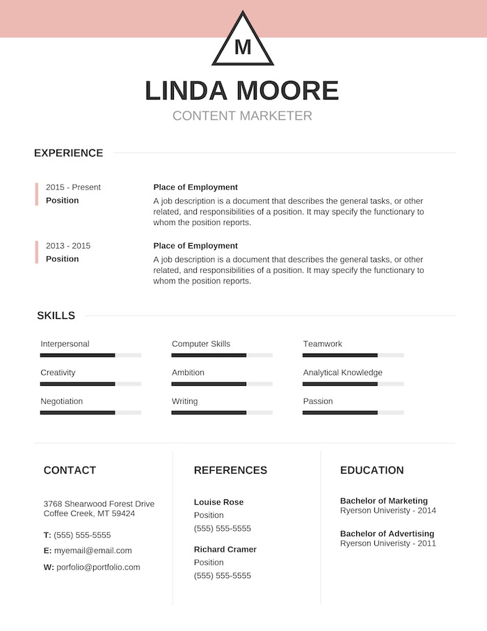 Simple Colorful Business Resume Template