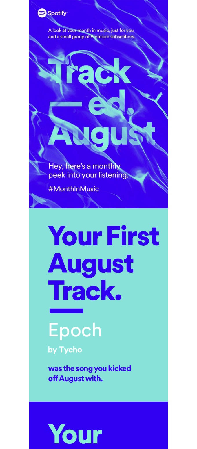 Spotify Monthly Email Newsletter Template