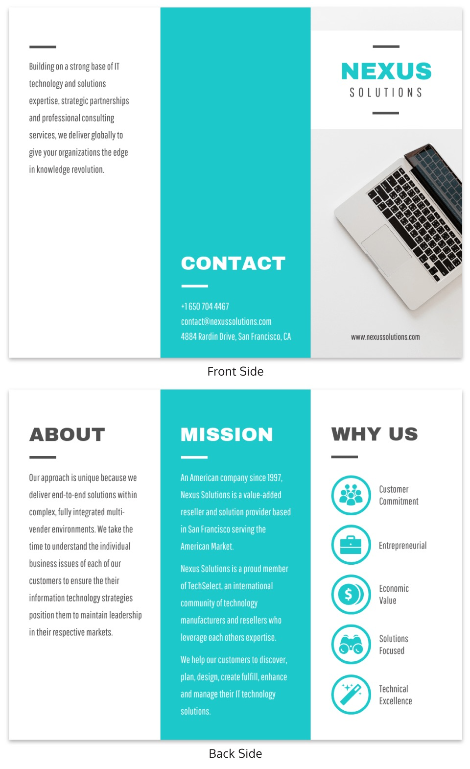 Technology Business Trifold Brochure Template