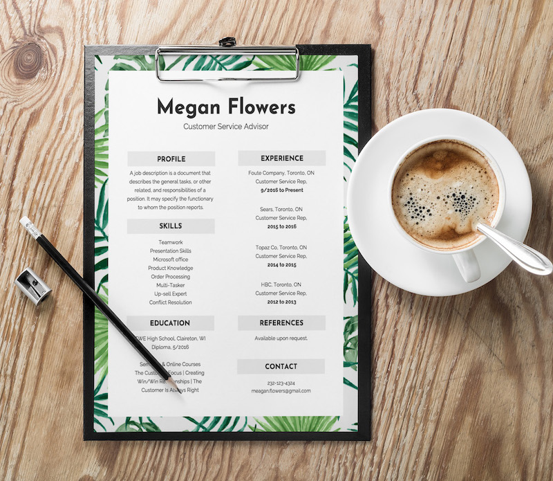 Trendy Modern Resume Design Template