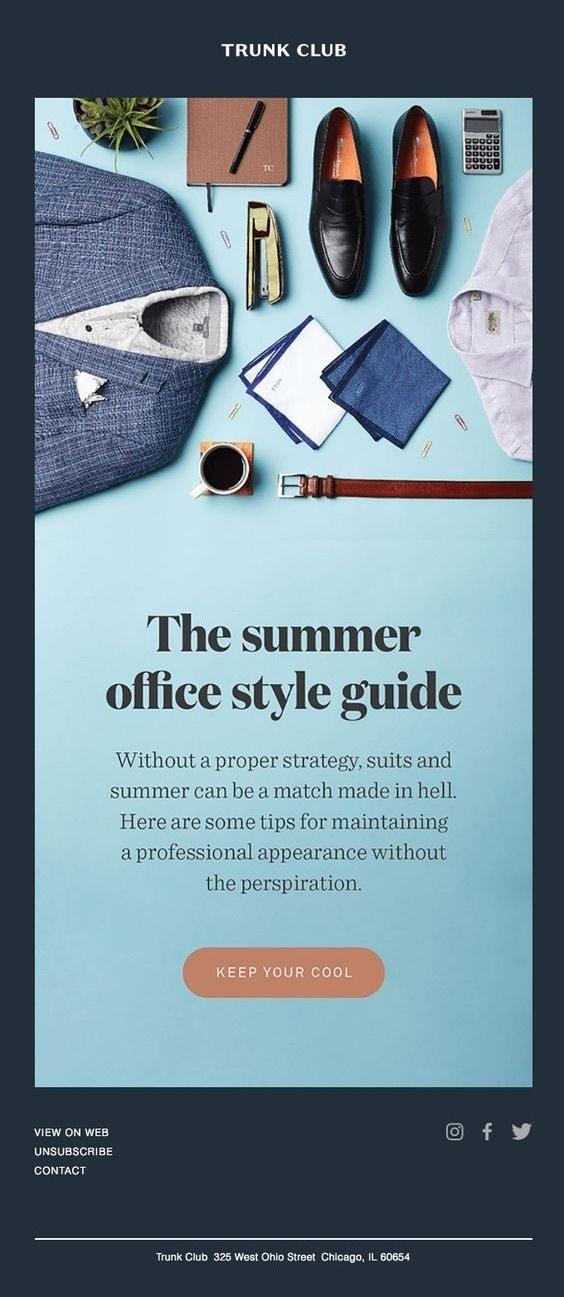 Trunk Club Marketing Email Newsletter Example
