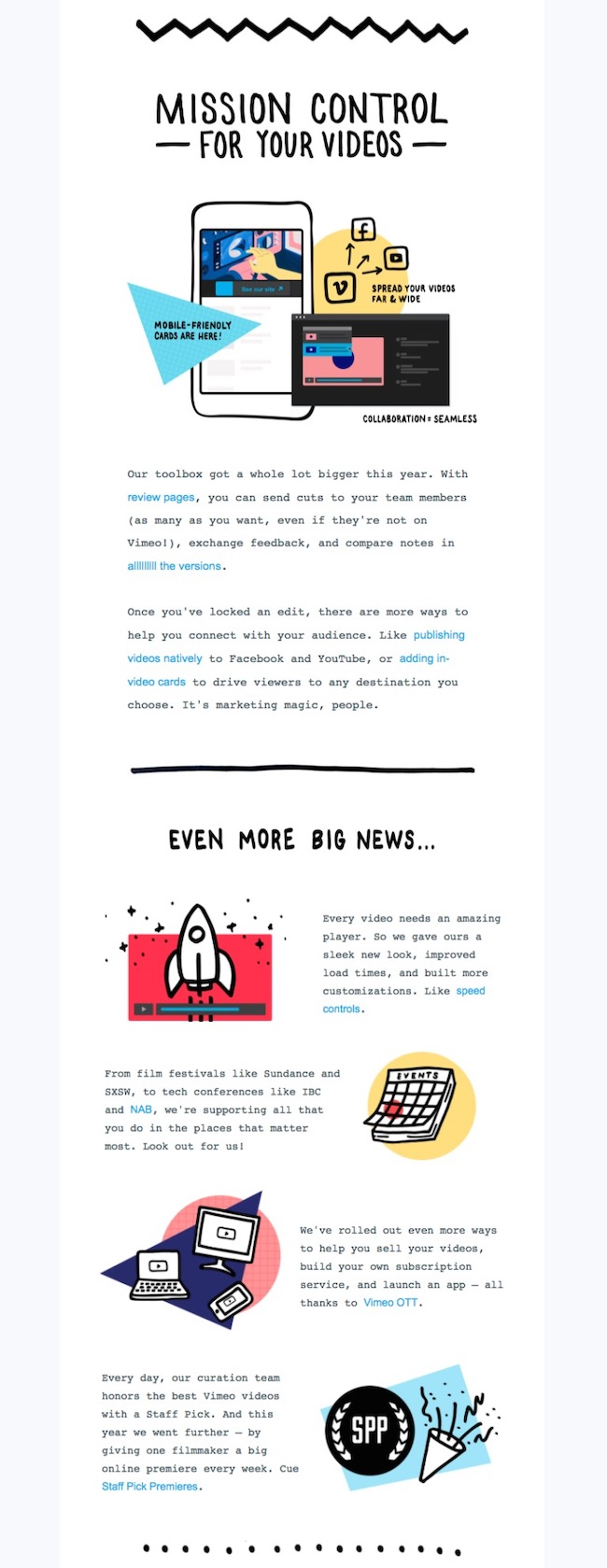 Vimeo Minimalist Tech Email Newsletter Template