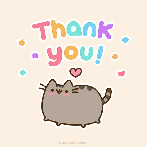 pusheen thank you