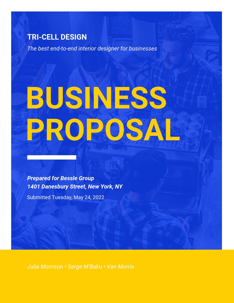 Bold Blue Business Proposal Template