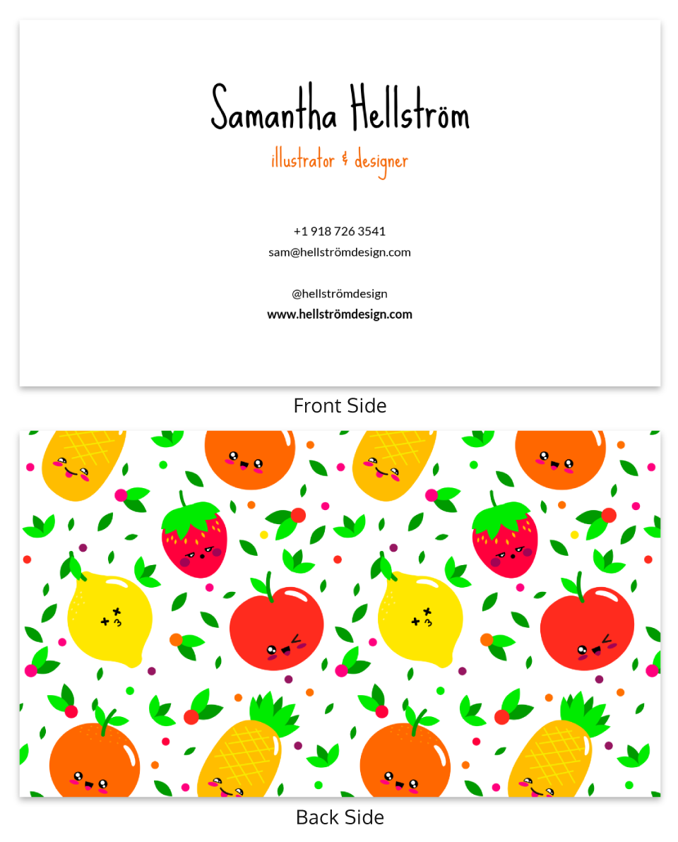 Illustrations Fruit Business Card Template