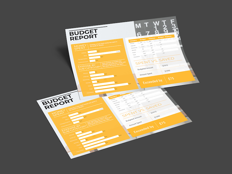 Budget Report Business Report Template