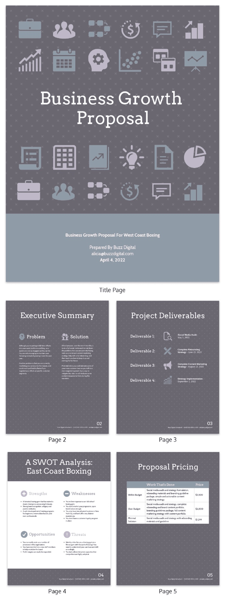 Business Growth Proposal Template
