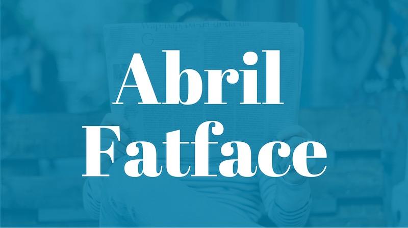 Free Elegant Fonts - Abril Fatface