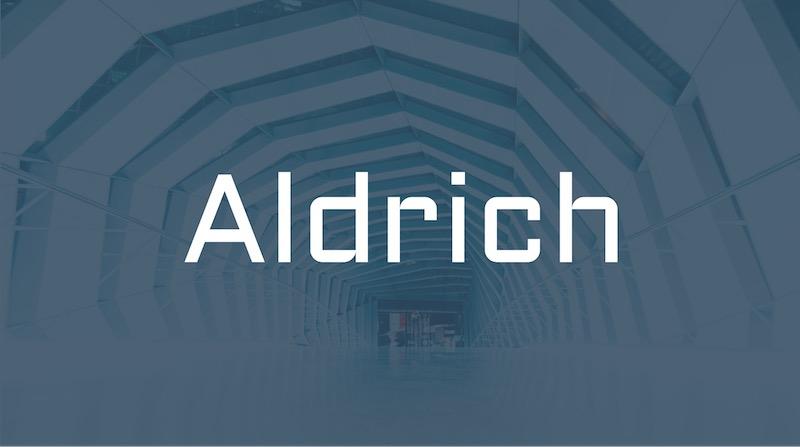 Free Elegant Fonts - Aldrich