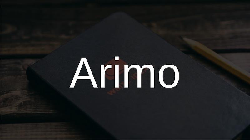 Free Elegant Fonts - Arimo