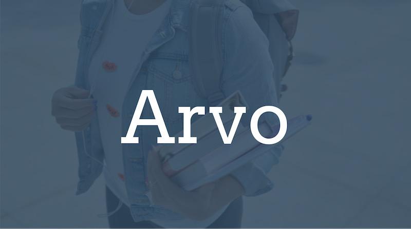 Free Elegant Fonts - Arvo