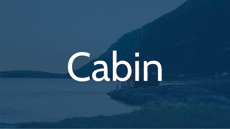 Free Elegant Fonts - Cabin