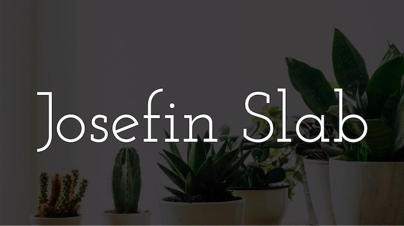 Free Elegant Fonts - Josefin Slab