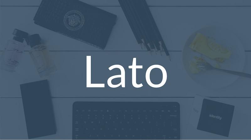 Free Elegant Fonts - Lato