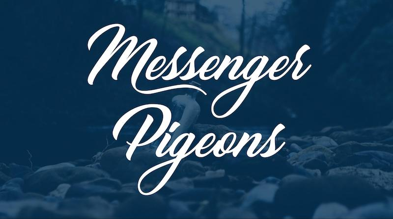 Free Elegant Fonts - Messenger Pigeons