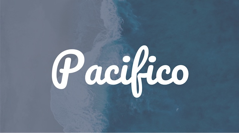Free Elegant Fonts - Pacifico