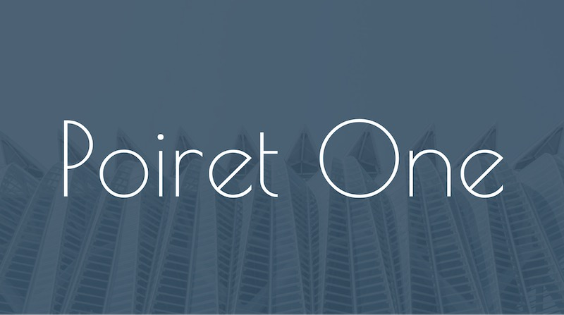 Free Elegant Fonts - Poiret One