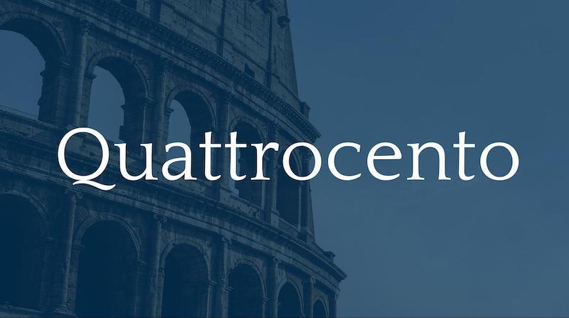 Free Elegant Fonts - Quattrocento