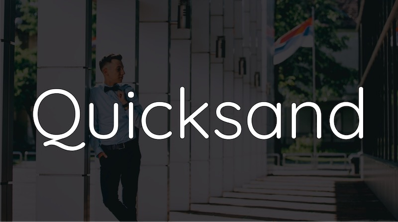 Free Elegant Fonts - Quicksand