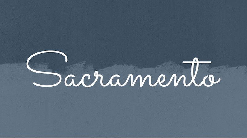 Free Elegant Fonts - Sacramento