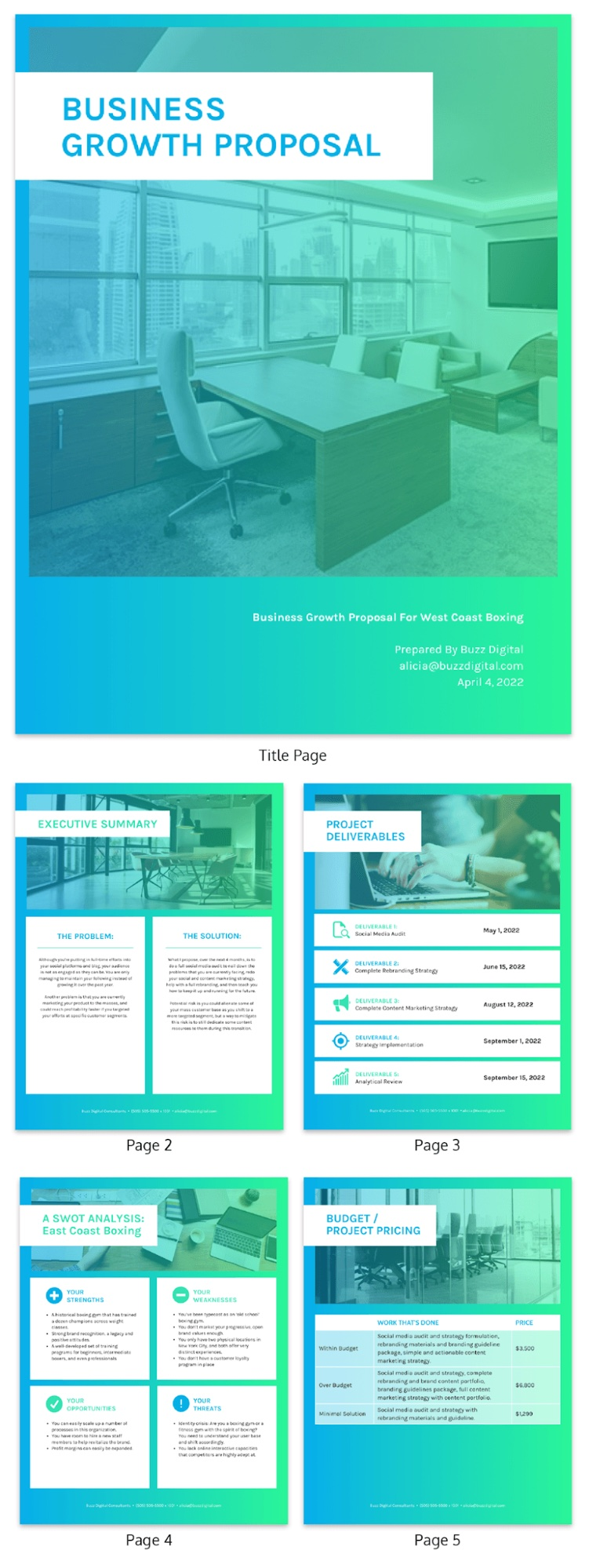 Green Consulting Proposal Template