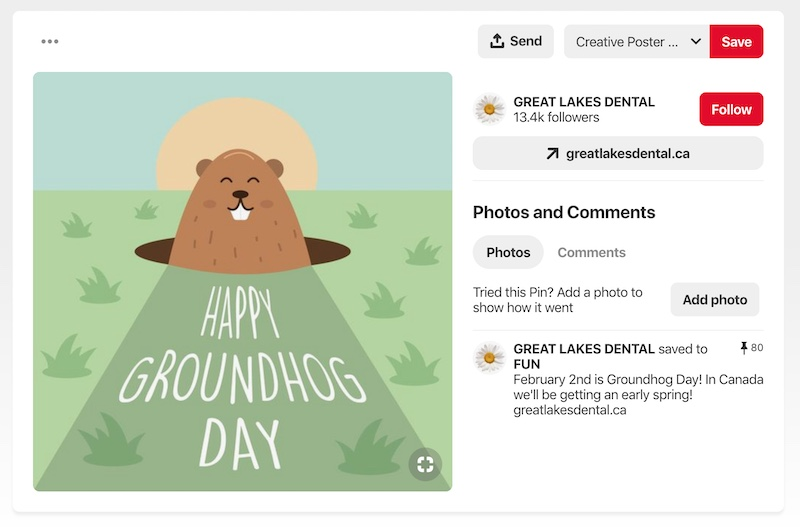 Groundhog Day - Social Media Holiday Templates