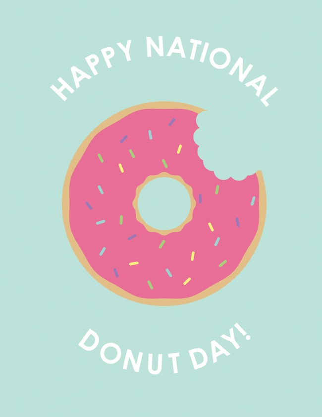 National Donut Day - Social Media Holiday Templates1