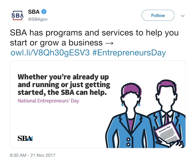 National Entrepreneurs Day - Social Media Holiday Template4