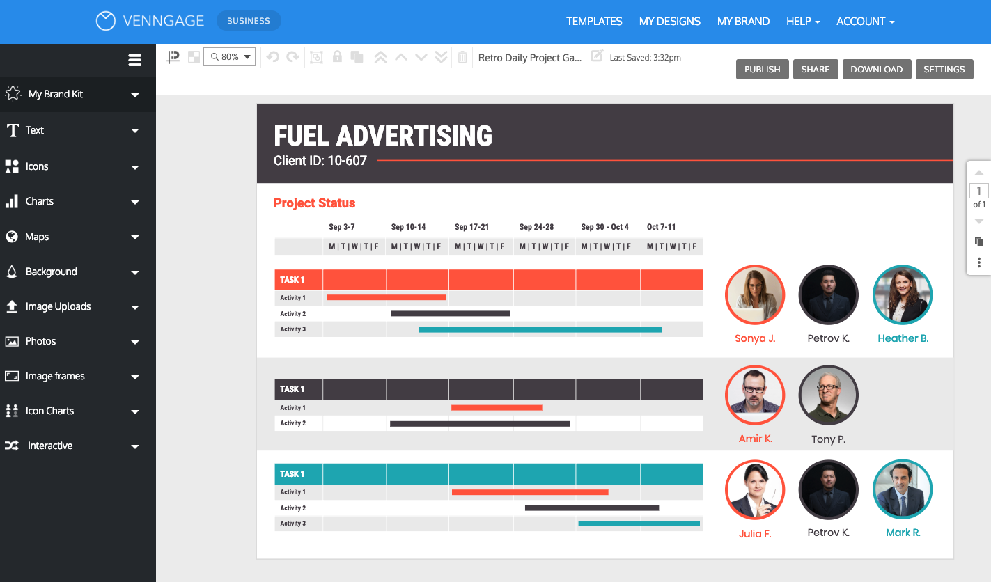 Create Your Own Gantt Chart Venngage Online Gantt Chart Maker