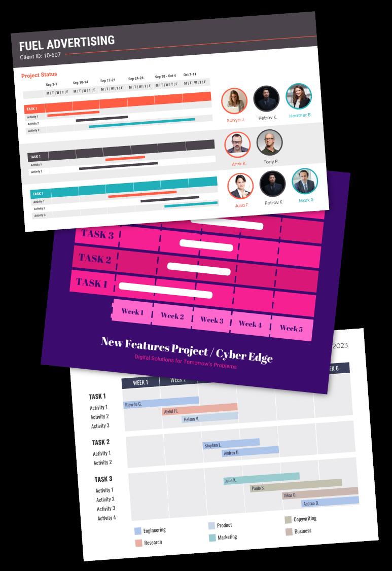 Venngage Online Gantt Chart