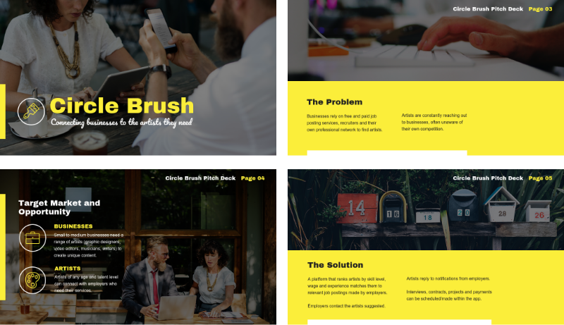 Creative Business Pitch Deck Template