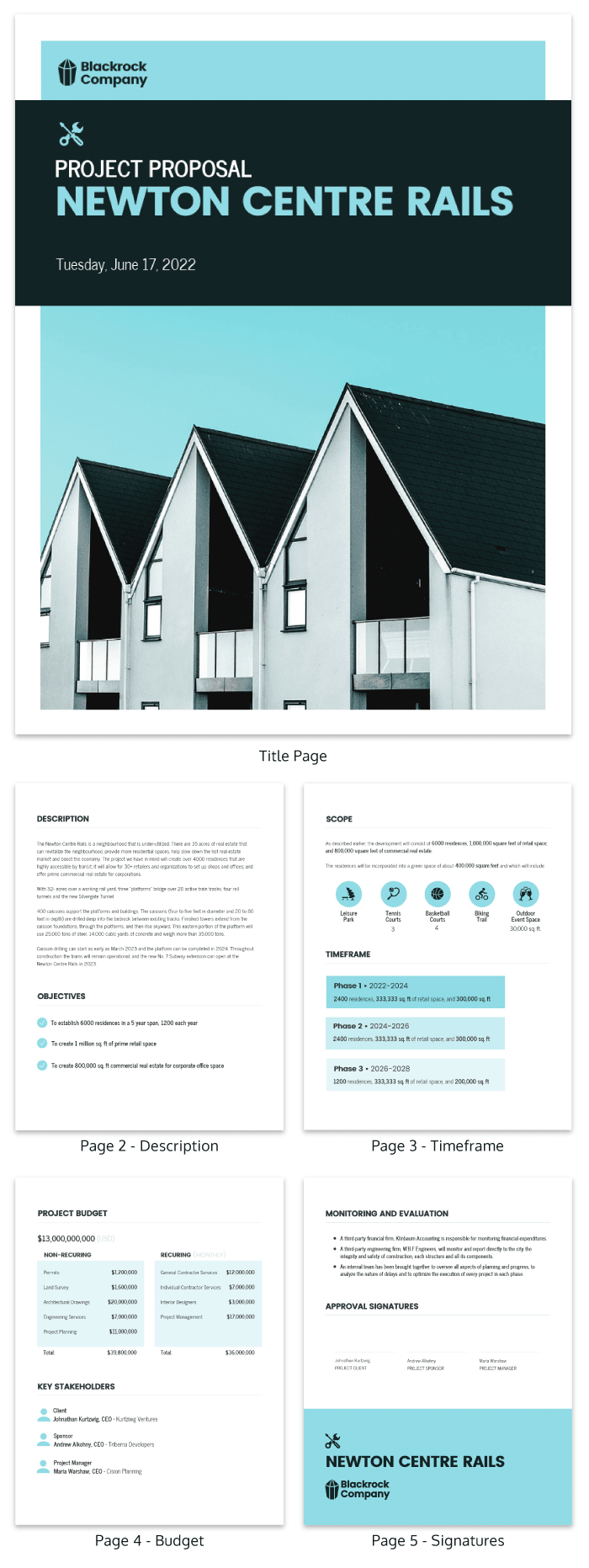 Real Estate Project Plan Template
