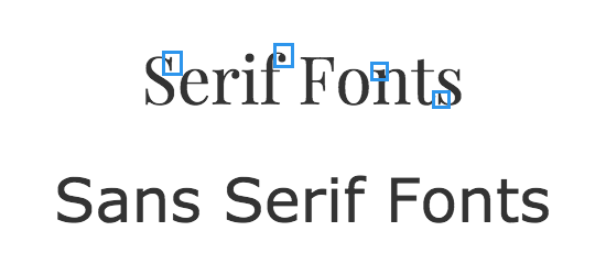 Serif and Sans Serif Fonts - Elegant Fonts
