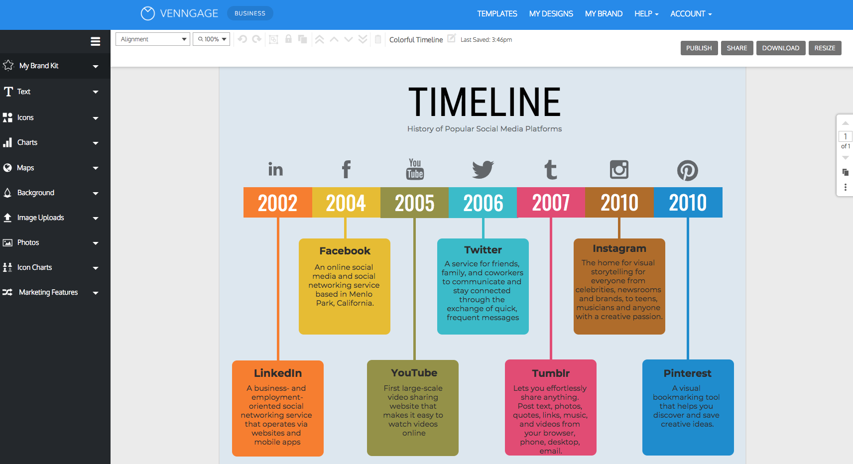 Free Timeline Maker | Choose from 100's of Engaging Templates