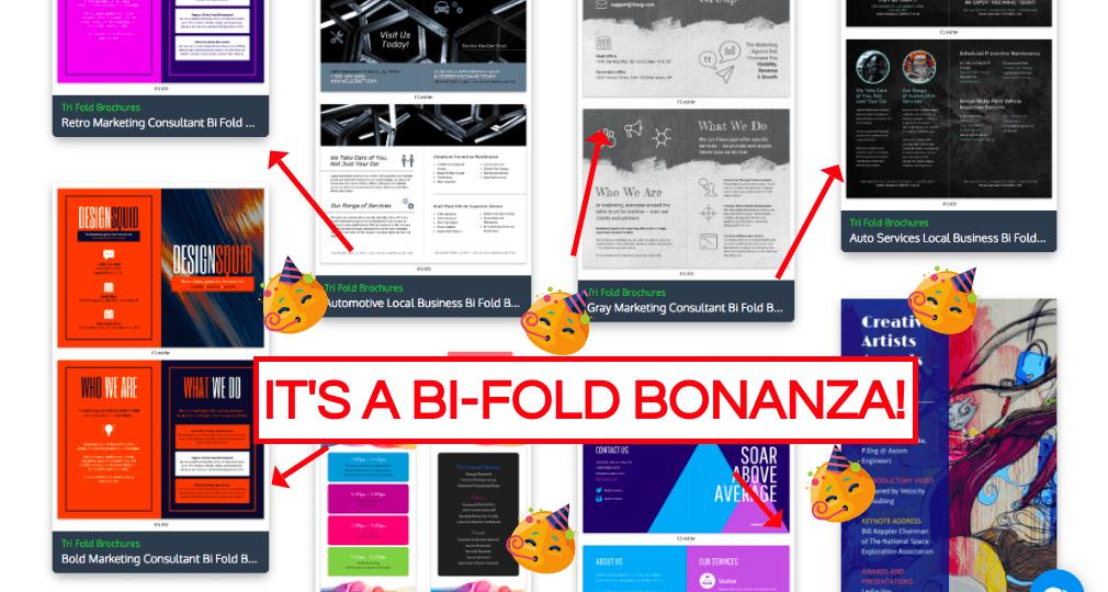 Bi Fold Templates Page, Bi-Fold Template Examples