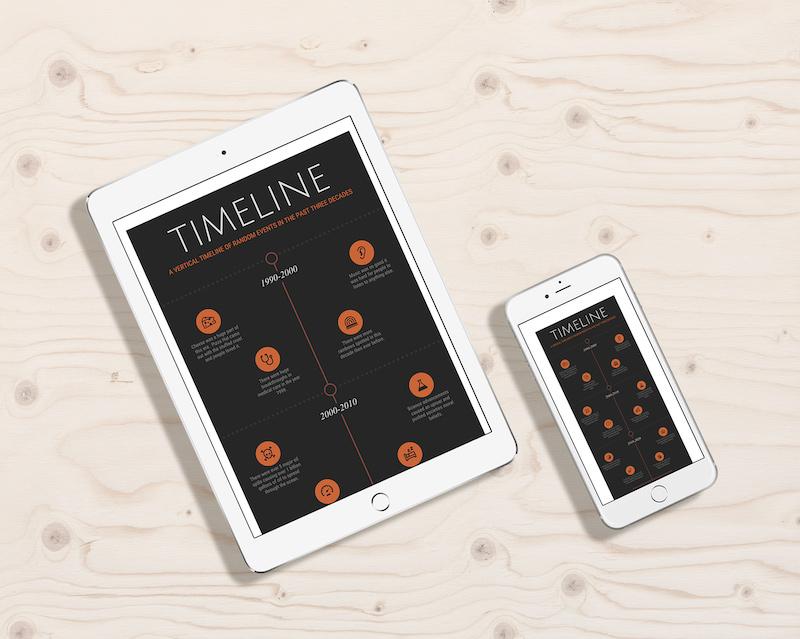 Black Modern Timeline Template