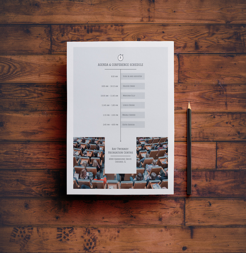 Modern Business Schedule Timeline Template