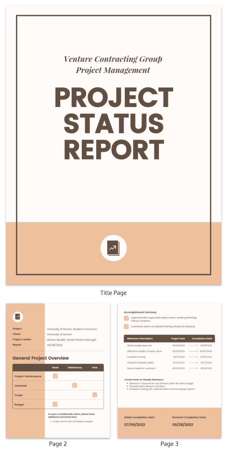 consulting report template