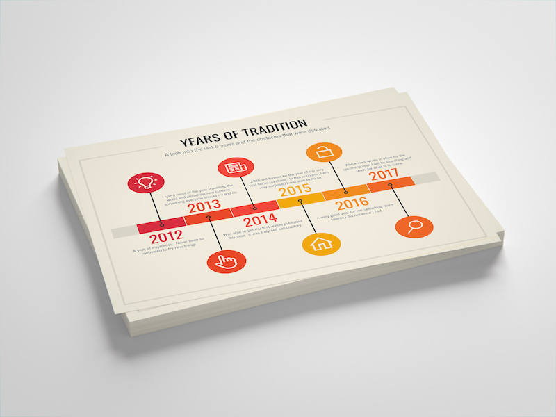 Simple Flat Infographic Timeline Template