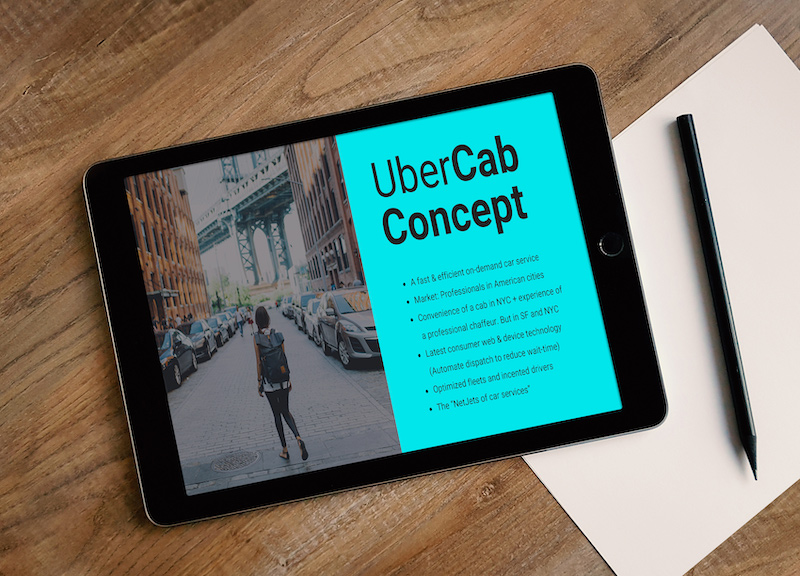 Uber Tech Pitch Deck Template